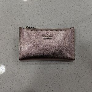 Kate Spade Small Slim Bifold Wallet Rose Gold